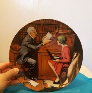 Norman Rockwell  decorative plate